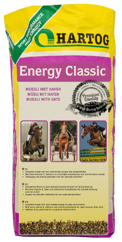 Energy Classic Hartog muesli horsefeed with oats for sporthorses