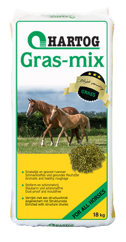 roughage Hartog Gras-mix horsefeed made from grass with pellets